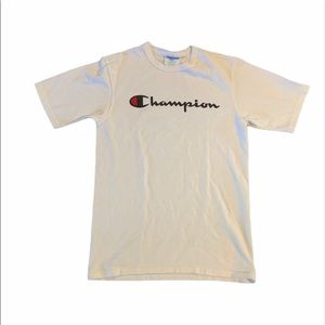 Champion Crewneck T- Shirt With Printed Logo